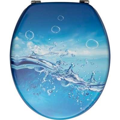 Splash Toilet Seat Blue and White