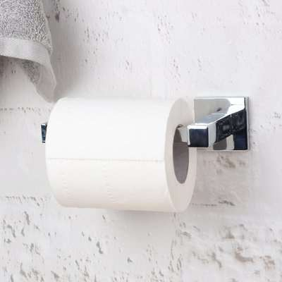 Square Wall Mounted Toilet Roll Holder Chrome