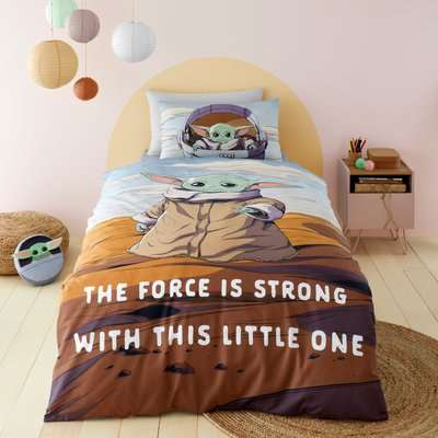 Star Wars Baby Grogu™ 100% Cotton Duvet Cover and Pillowcase Set MultiColoured
