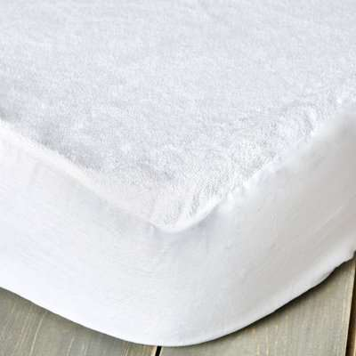 Staydrynights Terry Towelling Waterproof Mattress Protector White