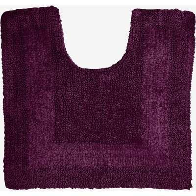 Super Soft Reversible Grape Square Bath Mat Grape Purple