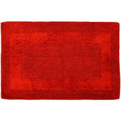 Super Soft Reversible Red Bath Mat Red