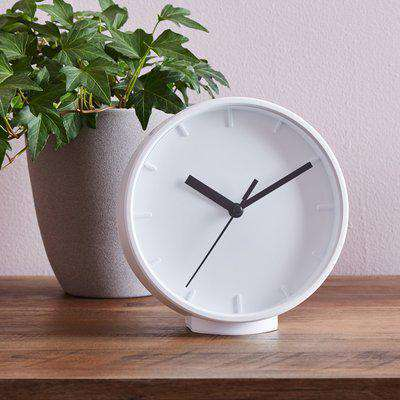 Table Clock 15cm White White