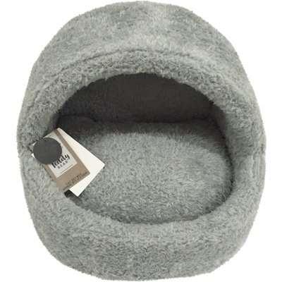Teddy Bear Cat Bed Grey