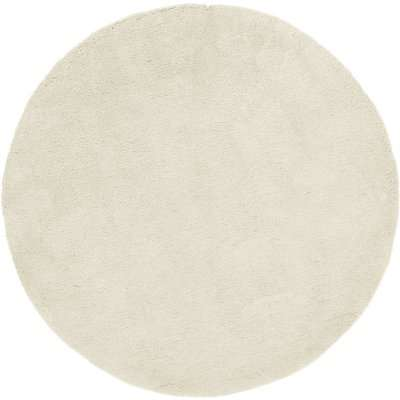 Teddy Bear Circle Rug Cream