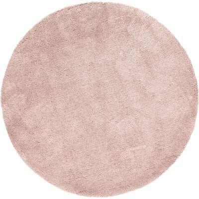 Teddy Bear Circle Rug Pink