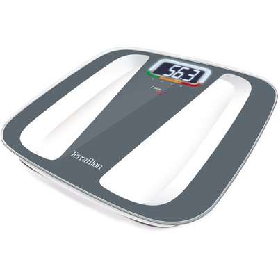 Terraillon Colour Coach Quattro Digital Bathroom Scale Grey
