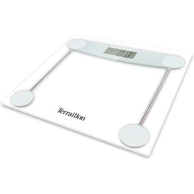 Terraillon TX5000 Clear Glass Electronic Bathroom Scales Clear