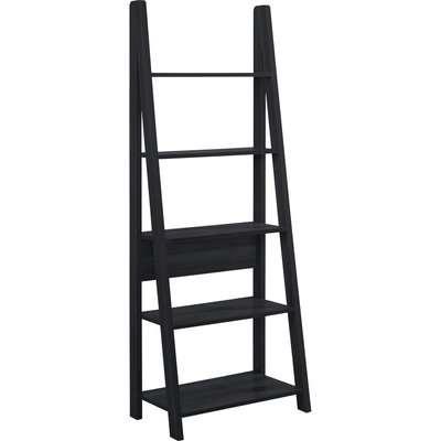 Tiva Wooden Ladder Bookcase Black
