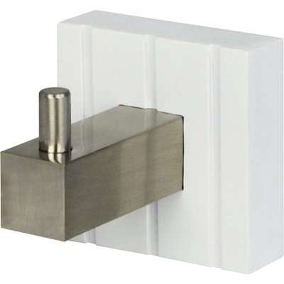 Tongue and Groove Hook White