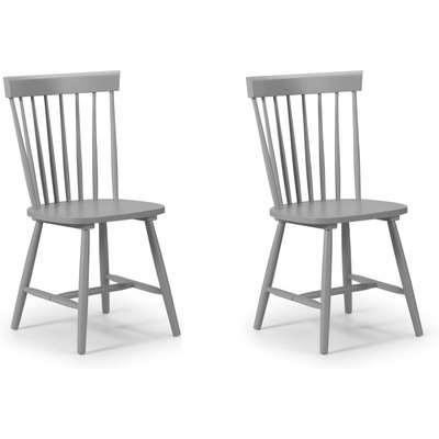 Torino Set of 2 Dining Chairs Grey