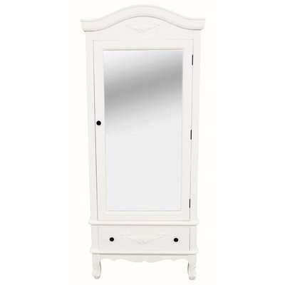 Toulouse Ivory Single Wardrobe Off-White