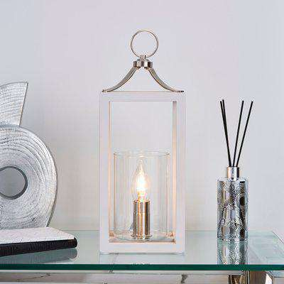 Tove Wooden Table Lamp Grey