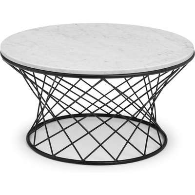 Trevi Real Marble Coffee Table White