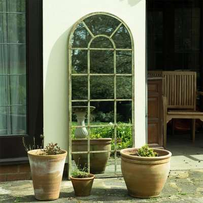 Tulip Antique Outdoor Mirror Green