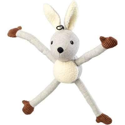 Tweed Grey Rabbit Dog Toy Grey
