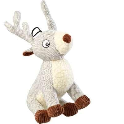 Tweed Grey Stag Dog Toy Grey