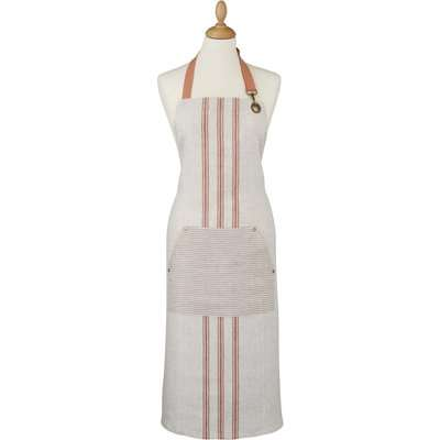 Ulster Weavers 1880 Linen Coral Tea Towel Pink and Brown