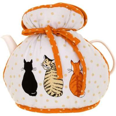 Ulster Weavers Cats in Waiting PVC Apron White, Orange and Black