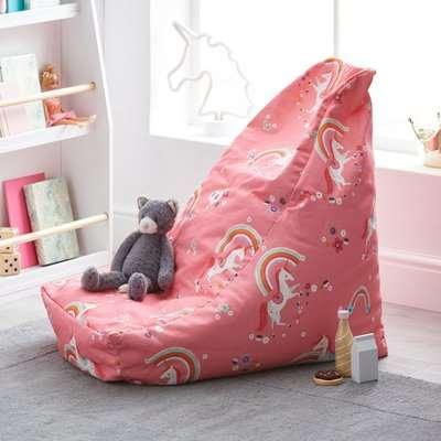 Unicorn Pink Relaxer Bean Bag Pink, White and Orange