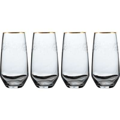 Set of 4 V&A The Cole Collection White Wine Glasses Clear