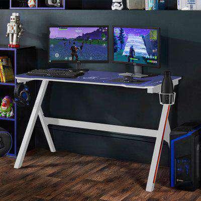 Velar LED White Gaming Desk White