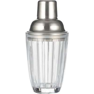 Viners 280ml Embossed Cocktail Shaker Clear