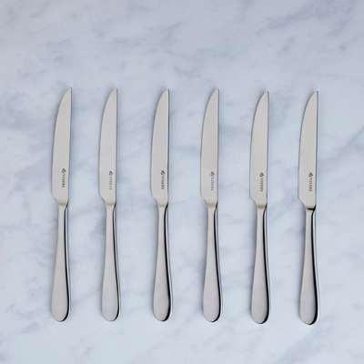 Viners Select 6 Pack Steak Knife Set Silver