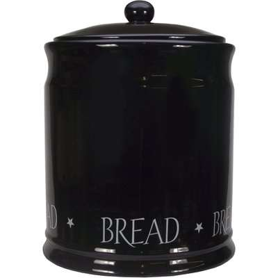 Vintage Black Text Bread Bin Black