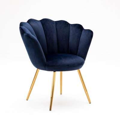 Vivian Velvet Cocktail Chair - Ink Blue