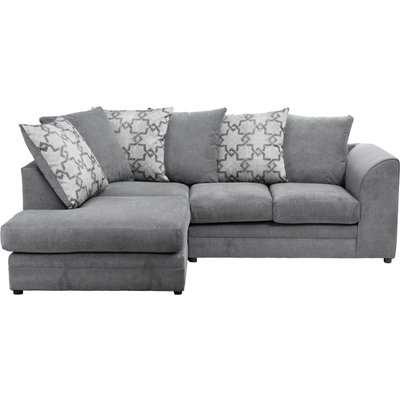 Washington Left Hand Fabric Corner Sofa Grey
