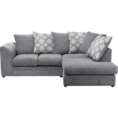 Washington Right Hand Fabric Corner Sofa Grey