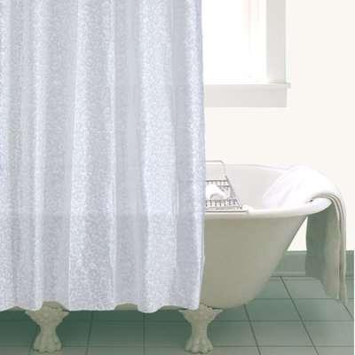 White Bubbles Shower Curtain White