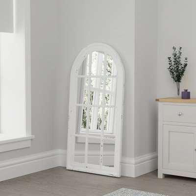 Window Leaner Mirror White White
