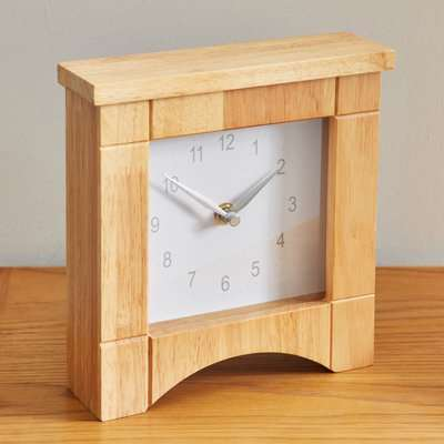 Wooden Mantel Clock Brown