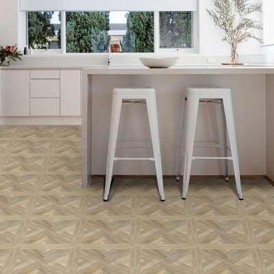 Wreath Wood Effect Floor Tile Natural