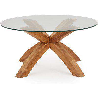 Xavi Coffee Table Brown and Clear