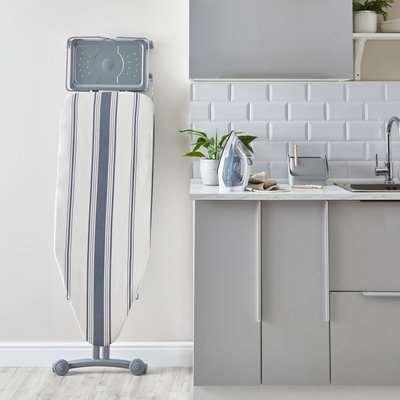 XL Ironing Board With Storage Rack Grey