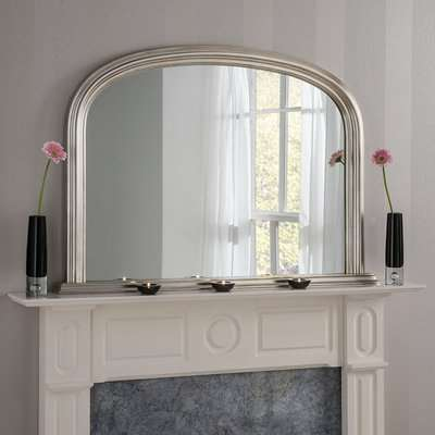 Yearn Contemporary Overmantle Mirror 112x77cm Champagne Grey