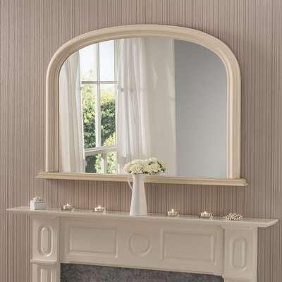 Yearn Contemporary Overmantle Mirror 112x77cm Ivory Cream/White