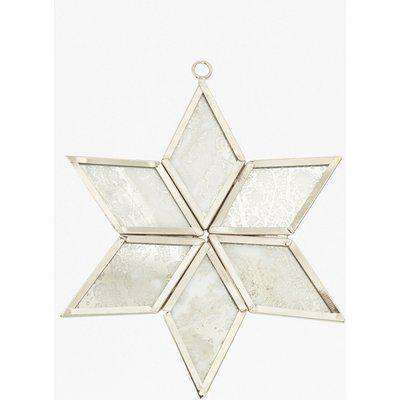 2D Star Decoration - silver