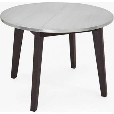 Agra Round Zinc Dining Table - zinc & black stain