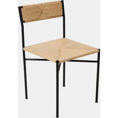 Amalfi Woven Dining Chair - natural brown