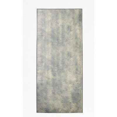 Antique Mist Long Wall Mirror - black