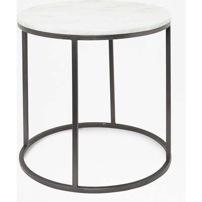 Banswara Marble Side Table - white/multi