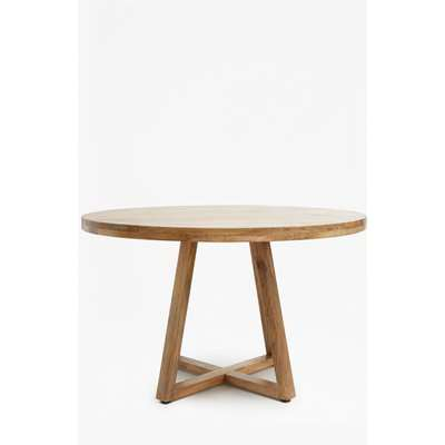 Round Wooden Dining Table - natural