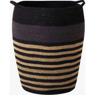 Seagrass Striped Laundry Basket - black