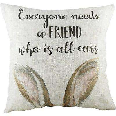 All Ears Hare Cushion Multicolour