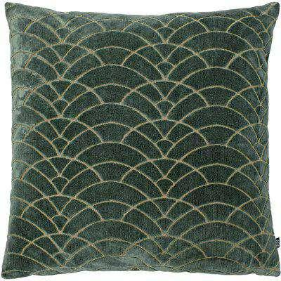 Dinari Graphic Cut Velvet Cushion Fern/Dark Green