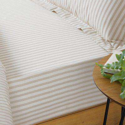 Hebden Striped Fitted Bed Sheet Natural